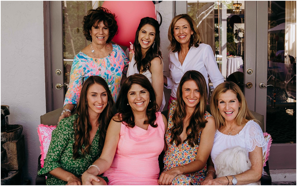 Lilly Pulitzer Bridal Shower Bride with family smiling