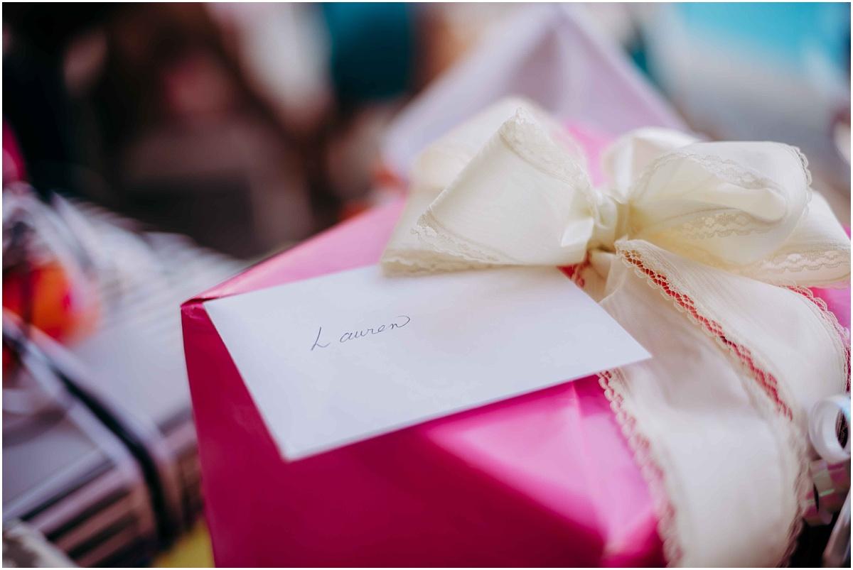 Bridal Shower pink gift