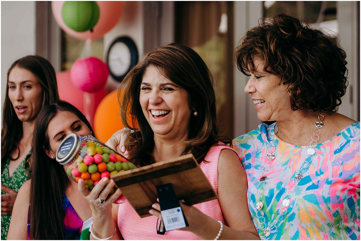 Lilly Pulitzer Bridal Shower mother of the bride prize winner
