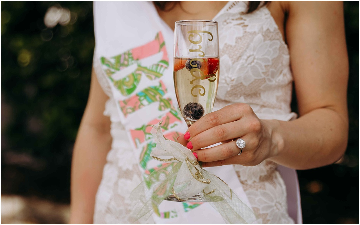 Lilly Pulitzer Bride to be Champange glass