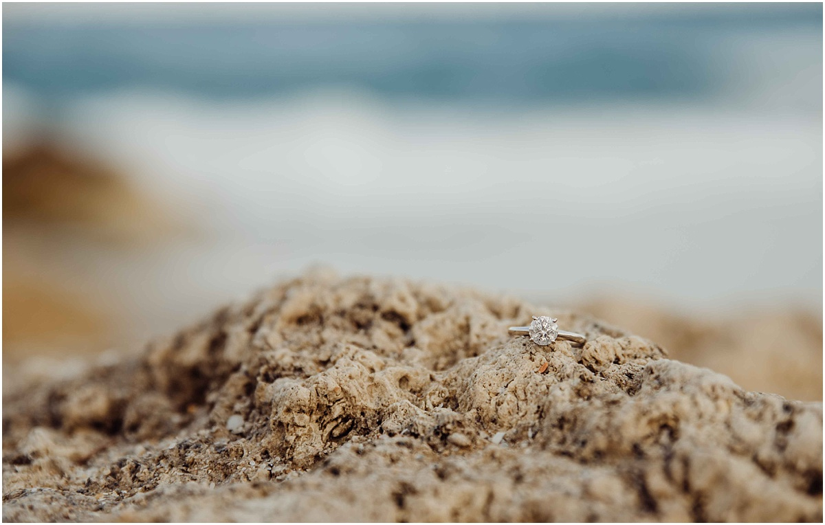 engagement ring on palm beach