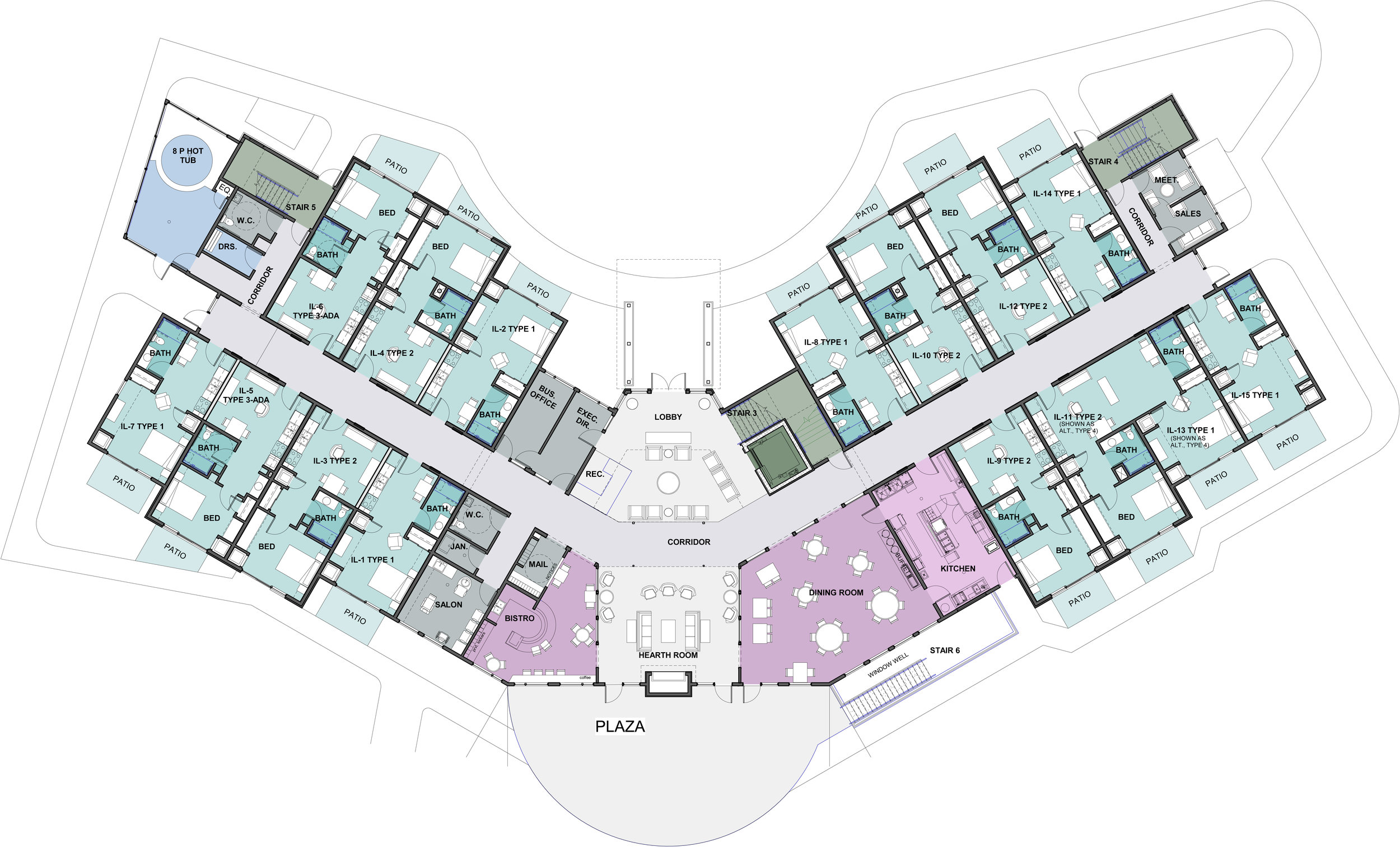 Open House SLAL Bldg B - Floor Plan - IL BLDG- - GRADE LEVEL FLOOR PLAN Copy 1.jpg