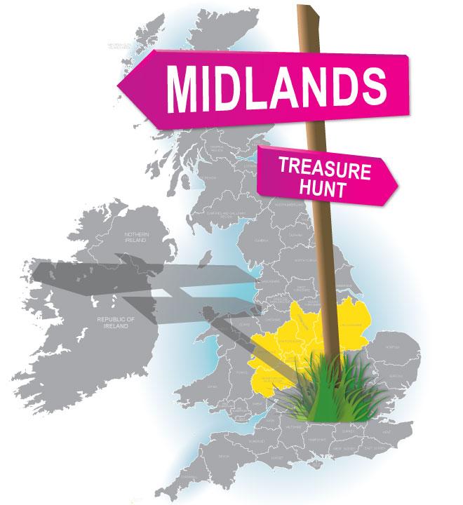 treasure hunt Midlands