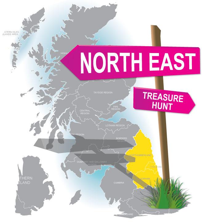 treasure hunt North East