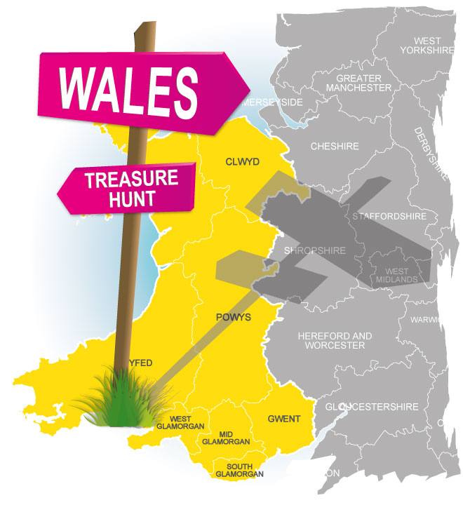treasure hunt wales
