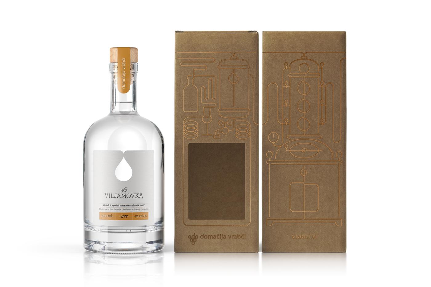 DOMAINE VRABCI / Spirits packaging design