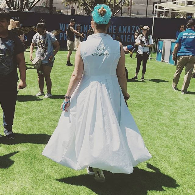 The coat, it billows! My sleeveless #rickandmorty coat was a big success on Thursday at #SDCC this year. I was so happy with how it turned out. #getschwifty #geekcouture