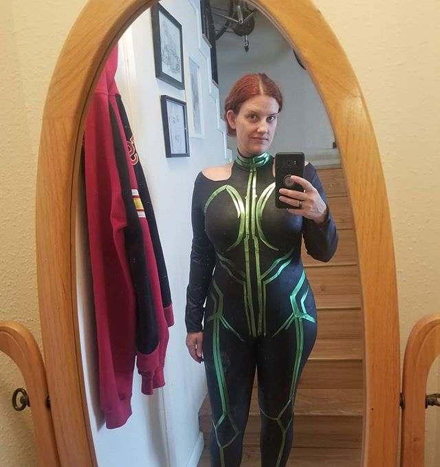 #Hela #Costume step 2: green stretch HTV. #cosplay #Thor #Ragnarock