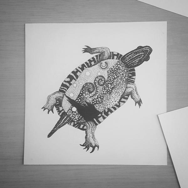 Inktober-Turtle