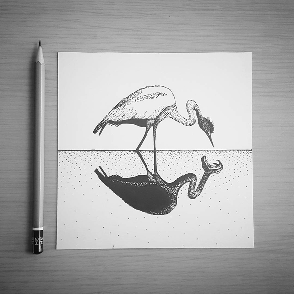 Inktober-Heron