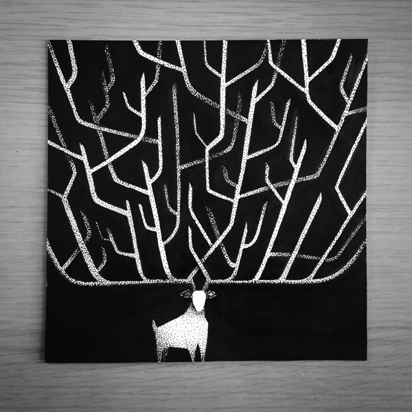 Inktober-Deer