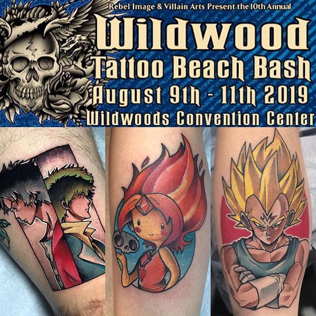I'll be tattooing at the Wildwood Tattoo Convention in NJ this August! Contact me to book an appointment. I'll have prints and originals for sale as well.