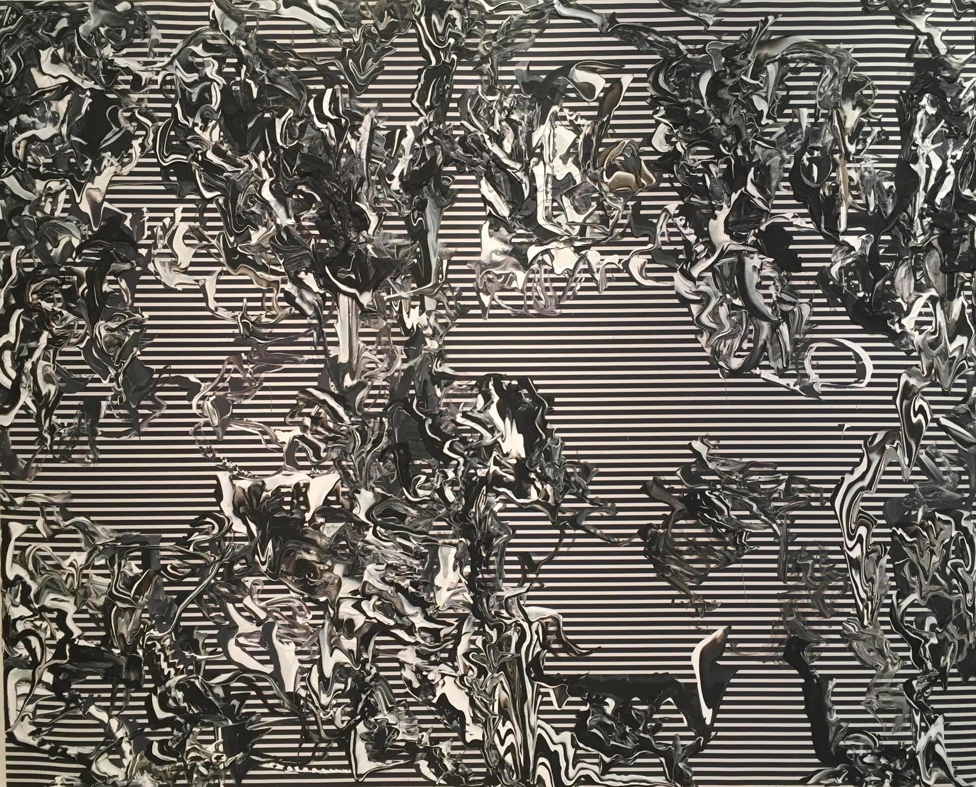 Peter Fox,Untitled (Origins), 2017, 50 x 62, Acrylic on canvas