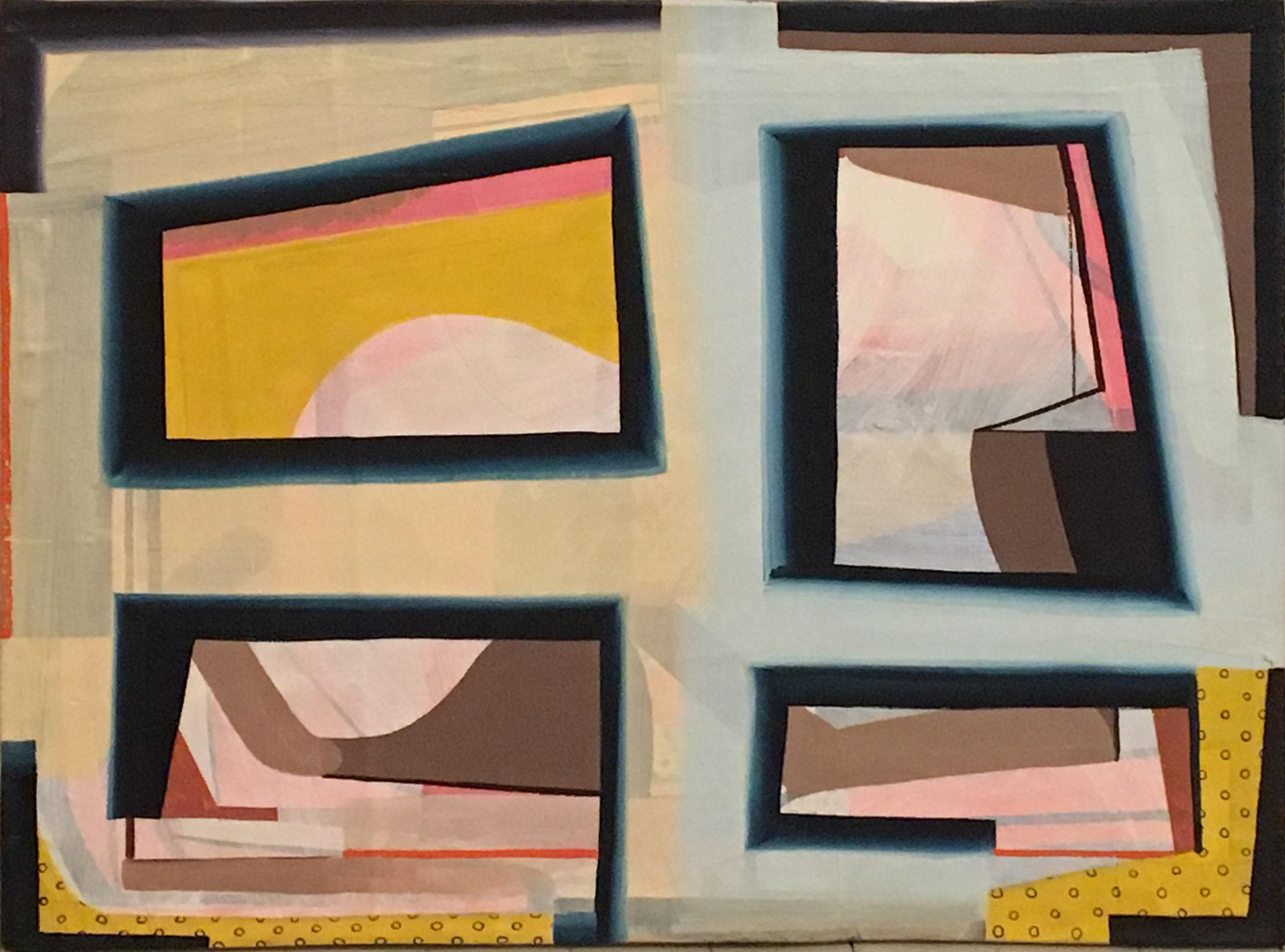 "Tom Burckhardt, Picture Plane, 2015, oil on cast plastic, 32"" x 40"""