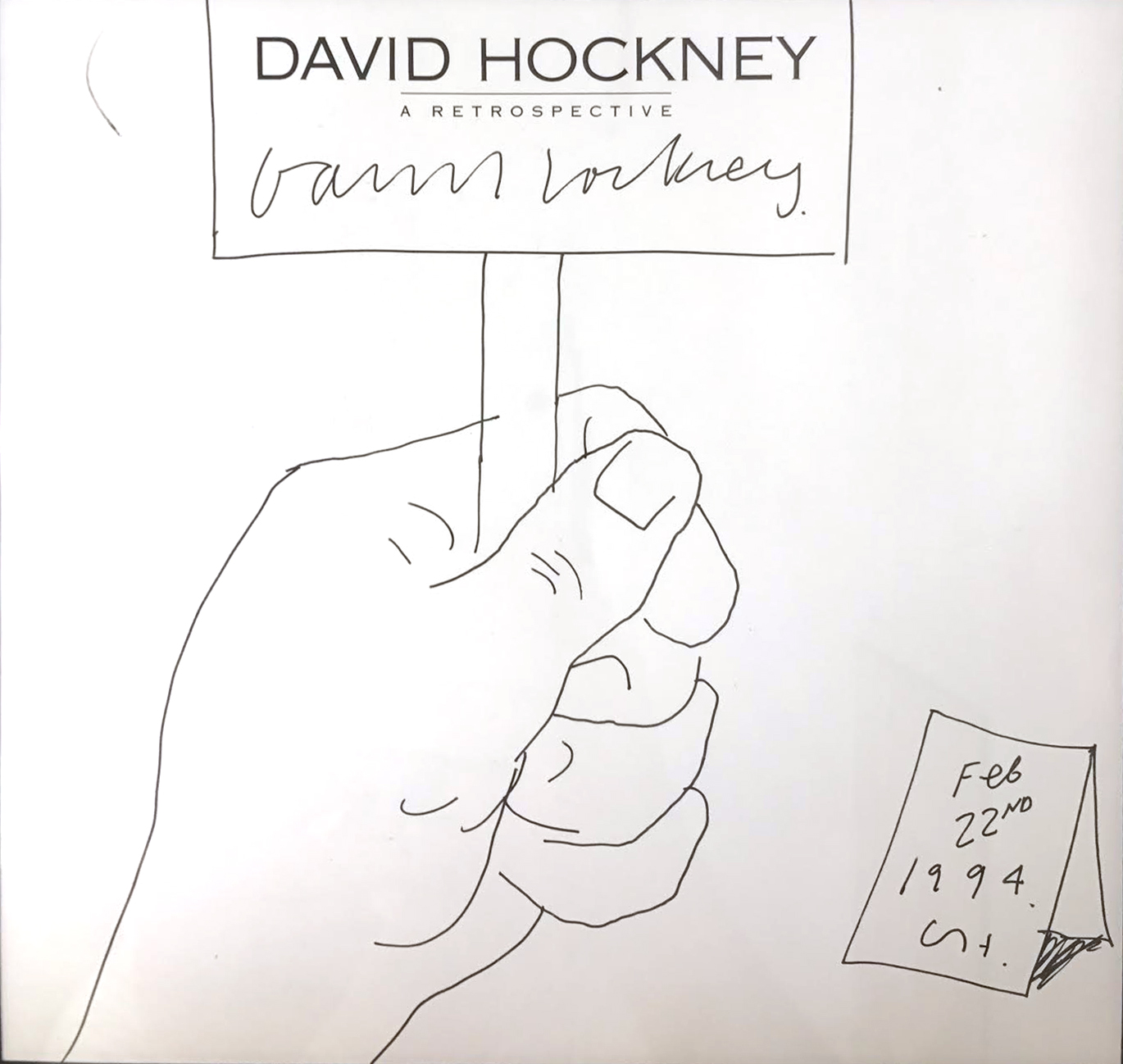 """David Hockney, Untitled, 1988, ink on paper, 38"""" x 21"""", courtesy of private collector"""