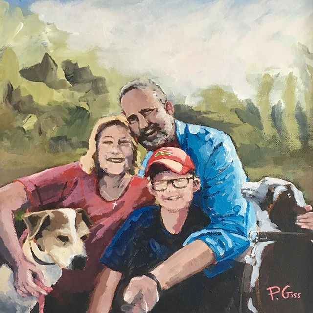 Family Portrait! ... Thanks to the Harris family - hope you enjoy the new addition to your collection! #family #art #painting