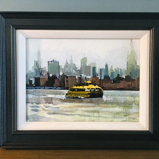 New York Water Taxi - from a damp day before Easter this year.... #newyork #watertaxi #painting #art
