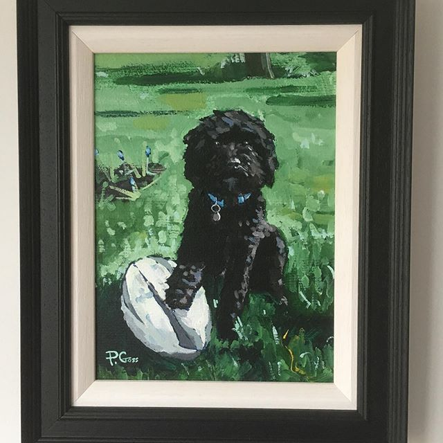 """Tigger"" Here's a first for me... pet portrait! From photo.... #dog #art #painting #pet #dogsofinstagram #dogoftheday #petstagram"
