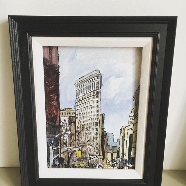 Flat Iron NY #newyork #newyorkcity #art #painting