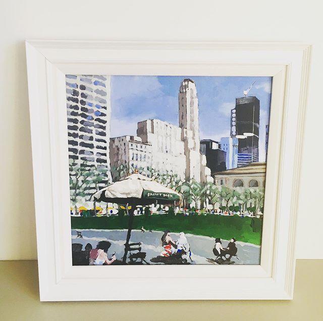 Bryant Park NY #newyork #bryantpark #newyorkcity #painting #art #park