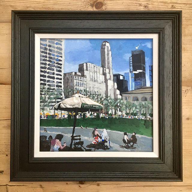 Bryant Park New York in a black frame #bryantpark #nyc #newyork #painting #art