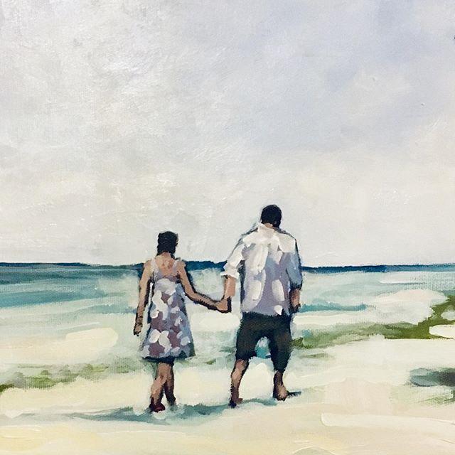 Vilamendhoo #maldives #painting #beach #couple #honeymoon #honeymoondestination
