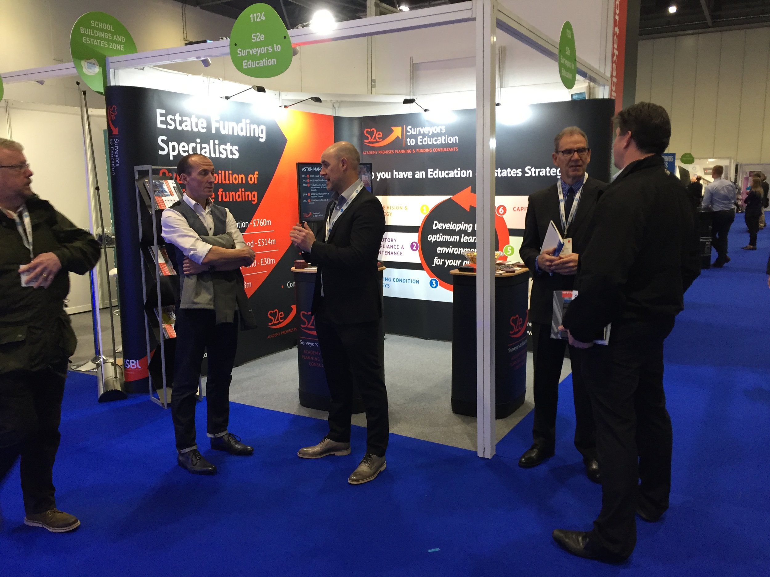 S2e exhibiting at the Schools and Academies Show 2019