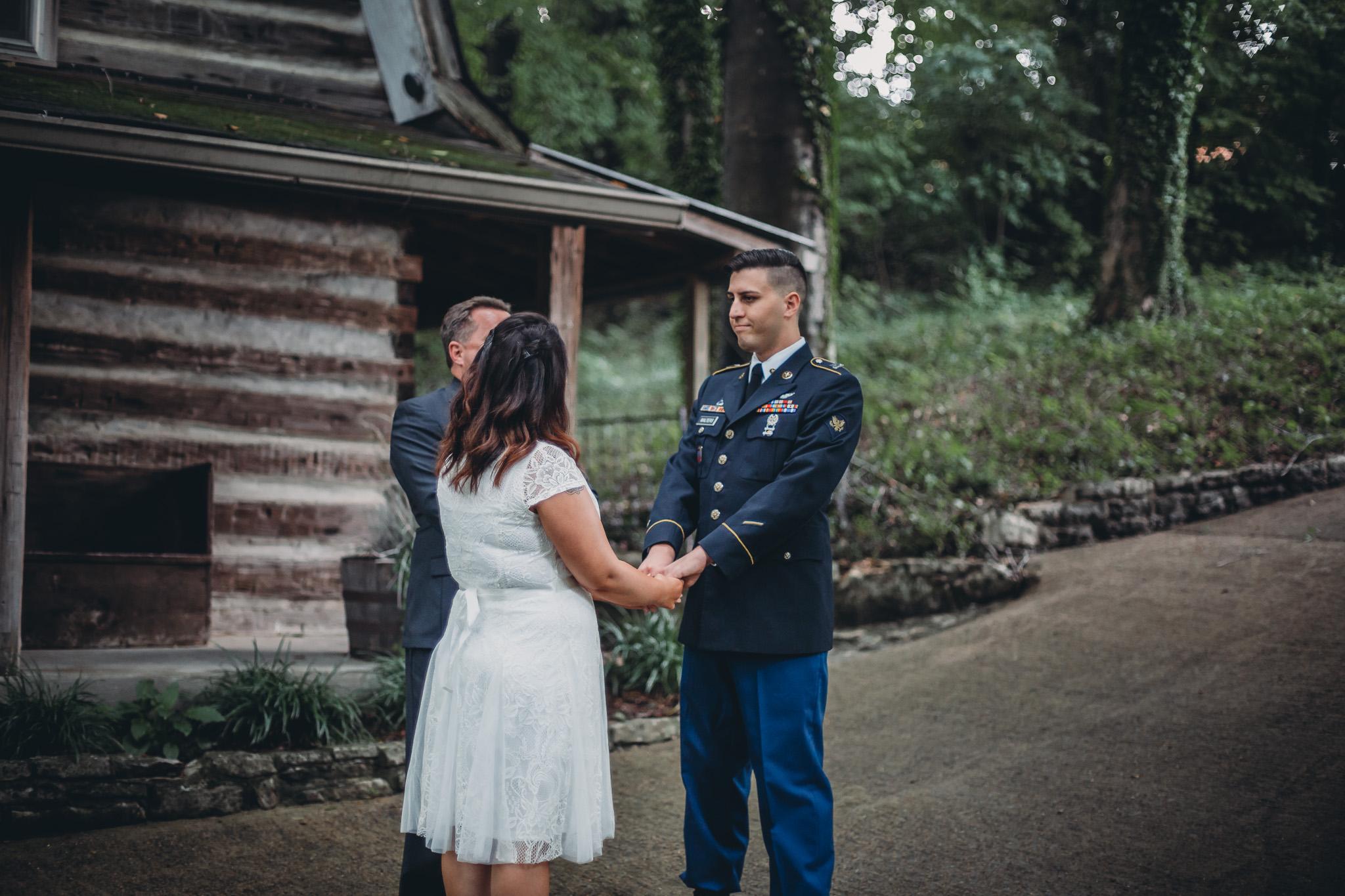 elopement ceremony clarksville tn