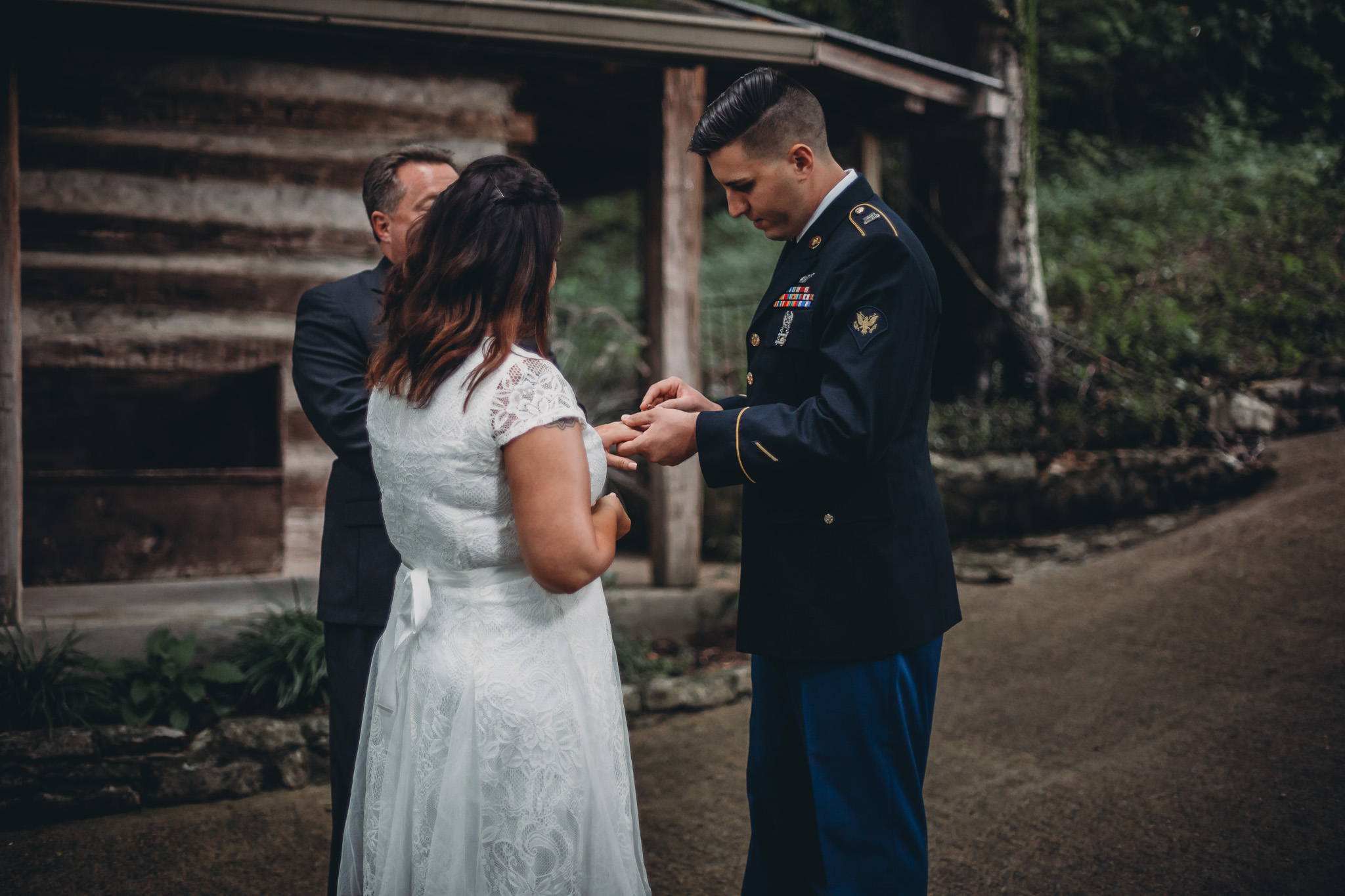 putting ring on bride
