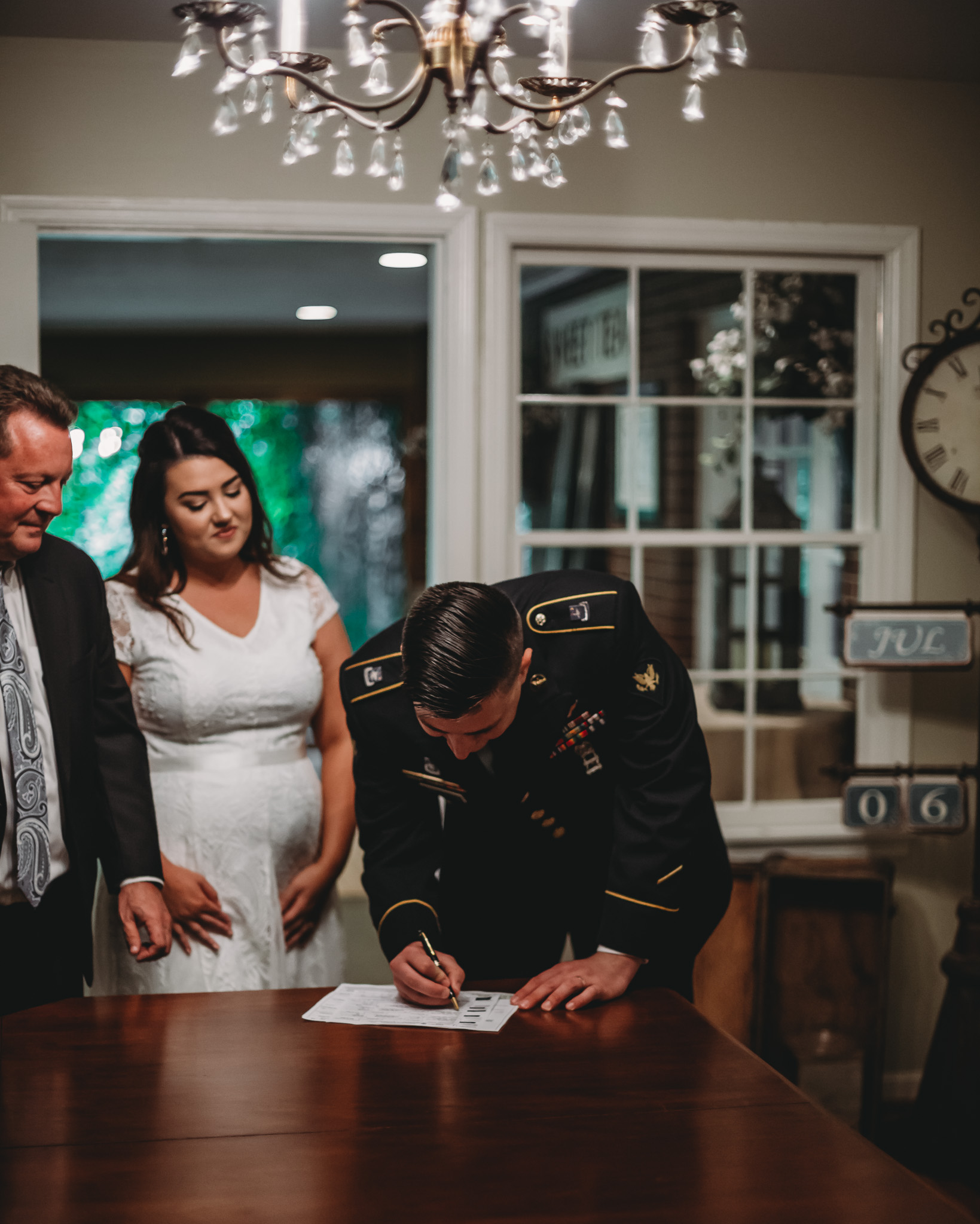 signing wedding documents