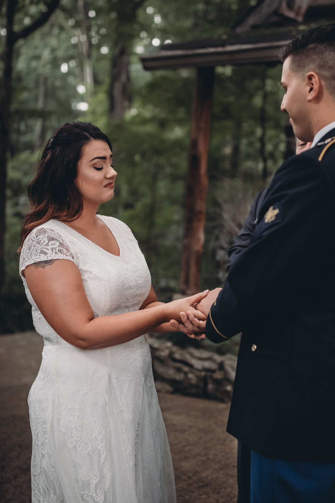 bride overcome with emotion