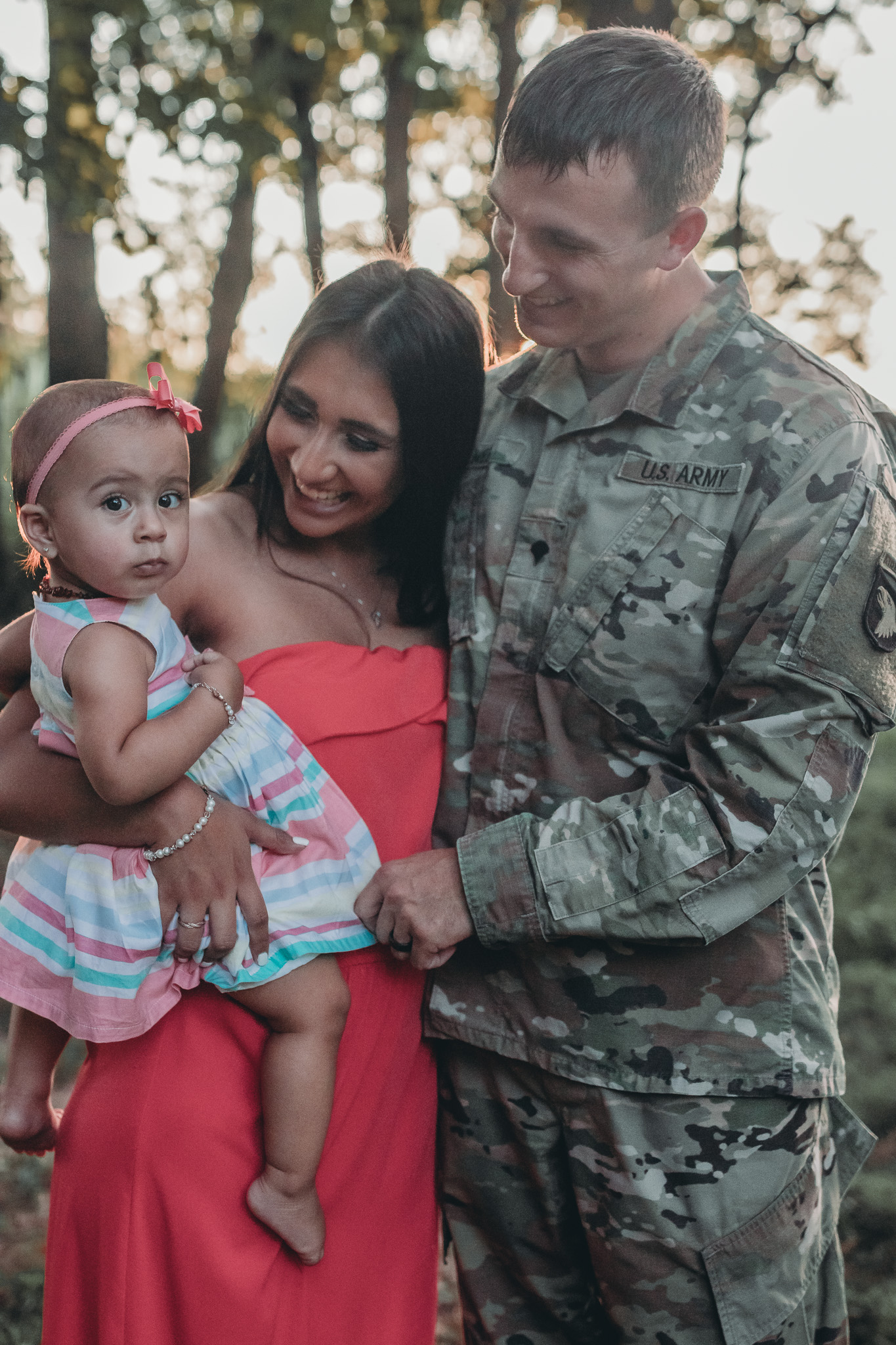 army family with baby