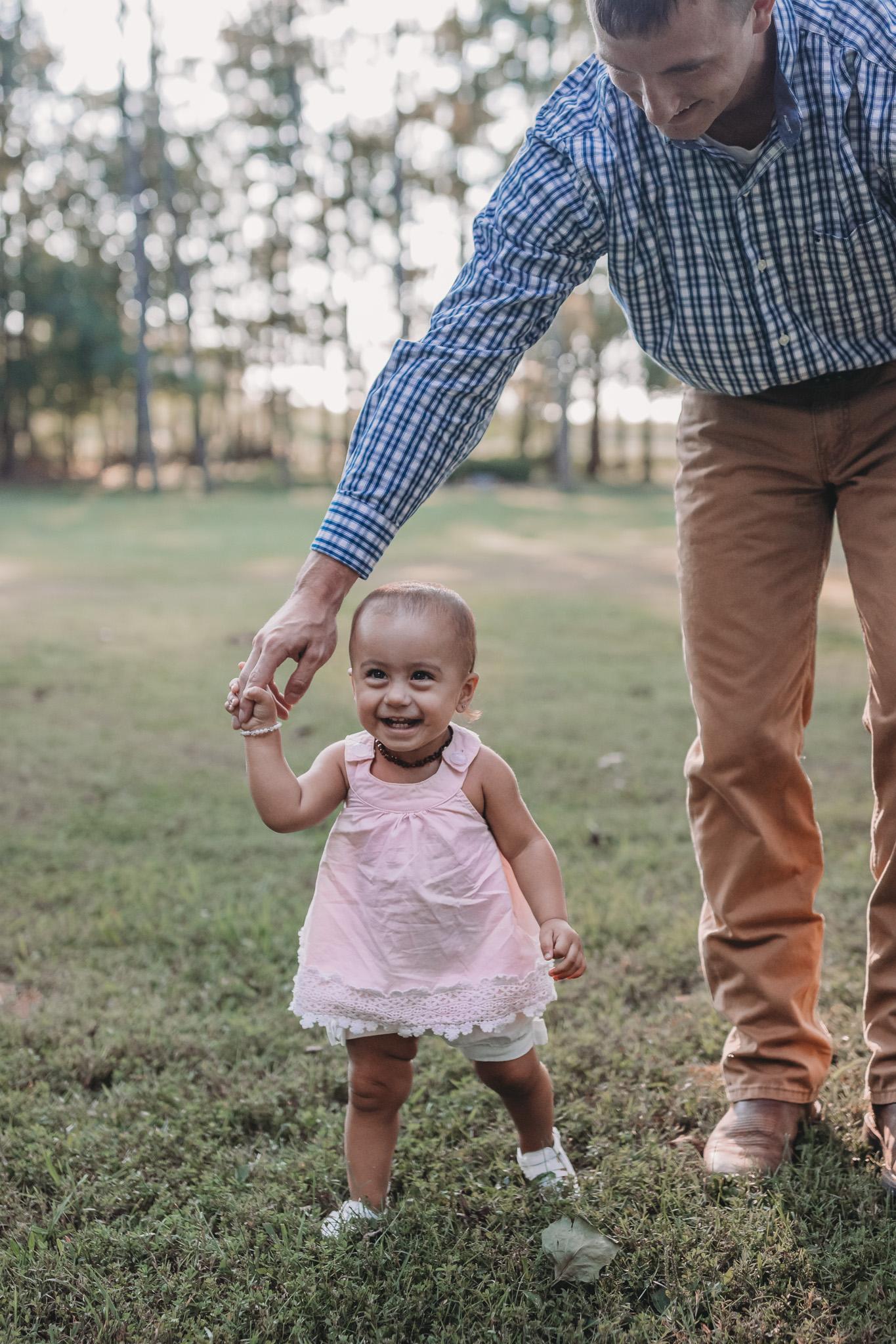 little baby walking