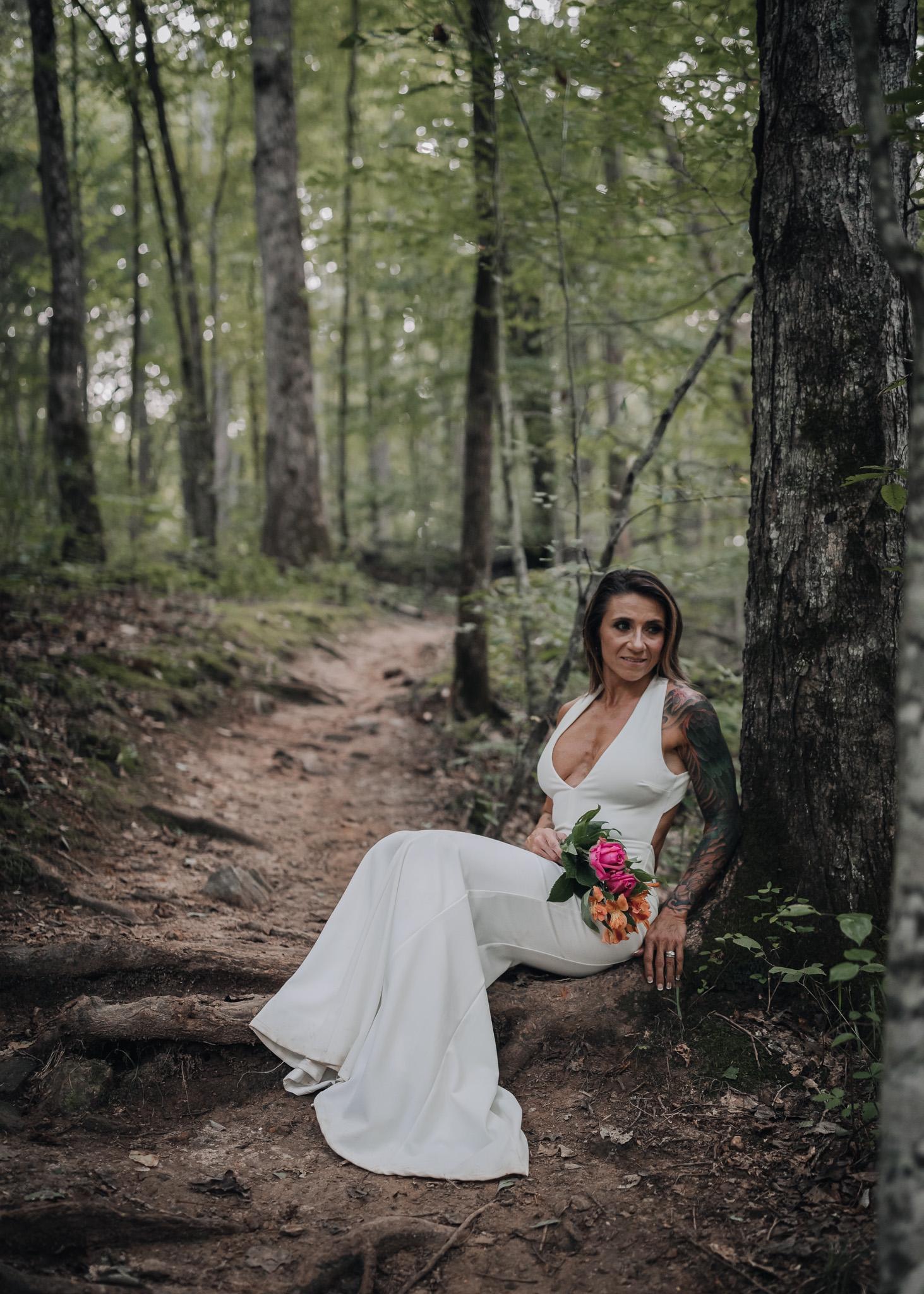 bride sitting portrait