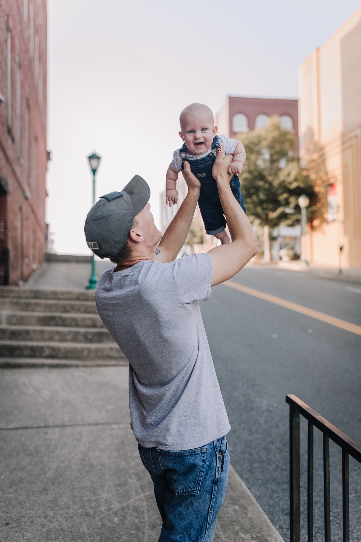dad playing with baby boy