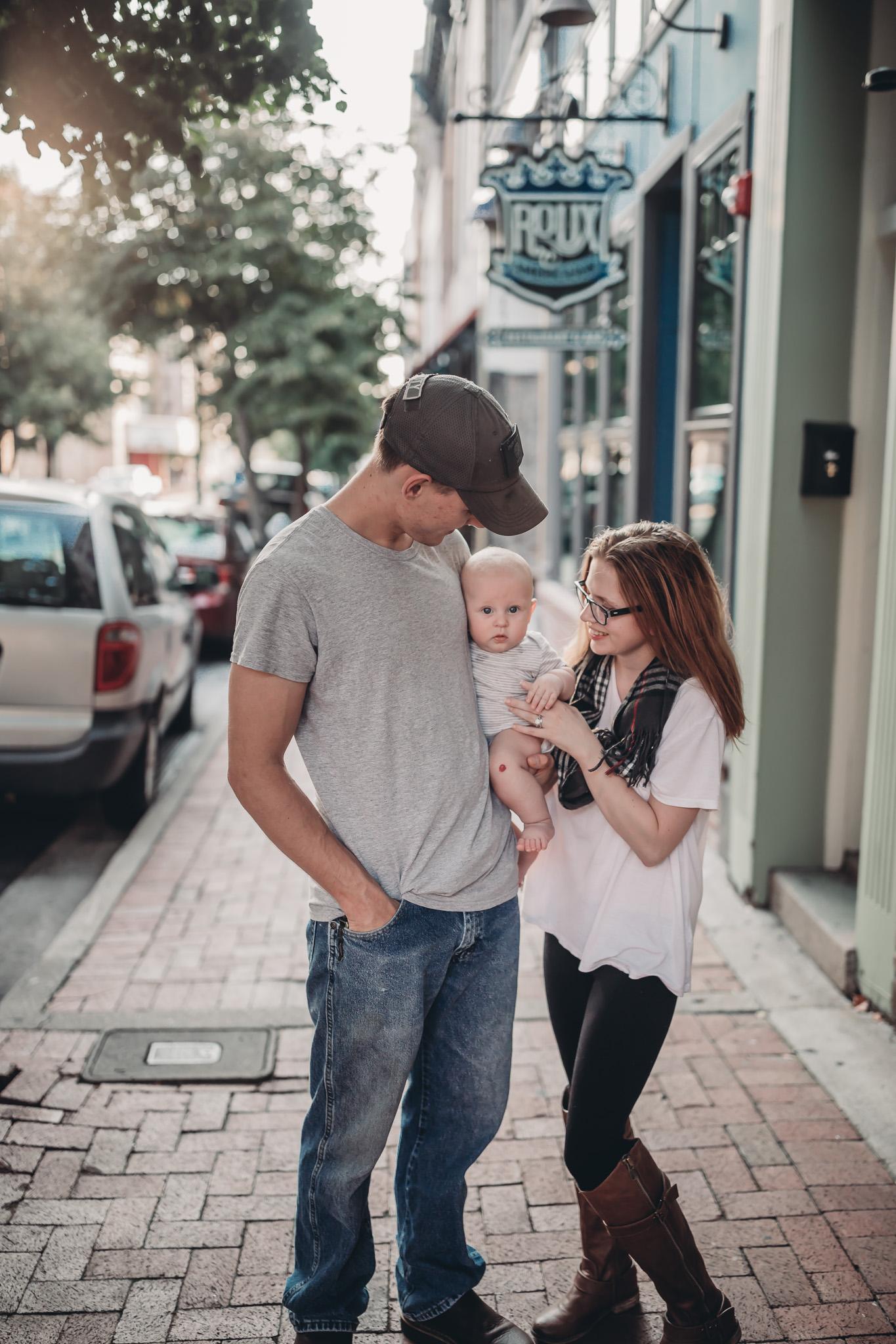 family photos downtown Clarksville