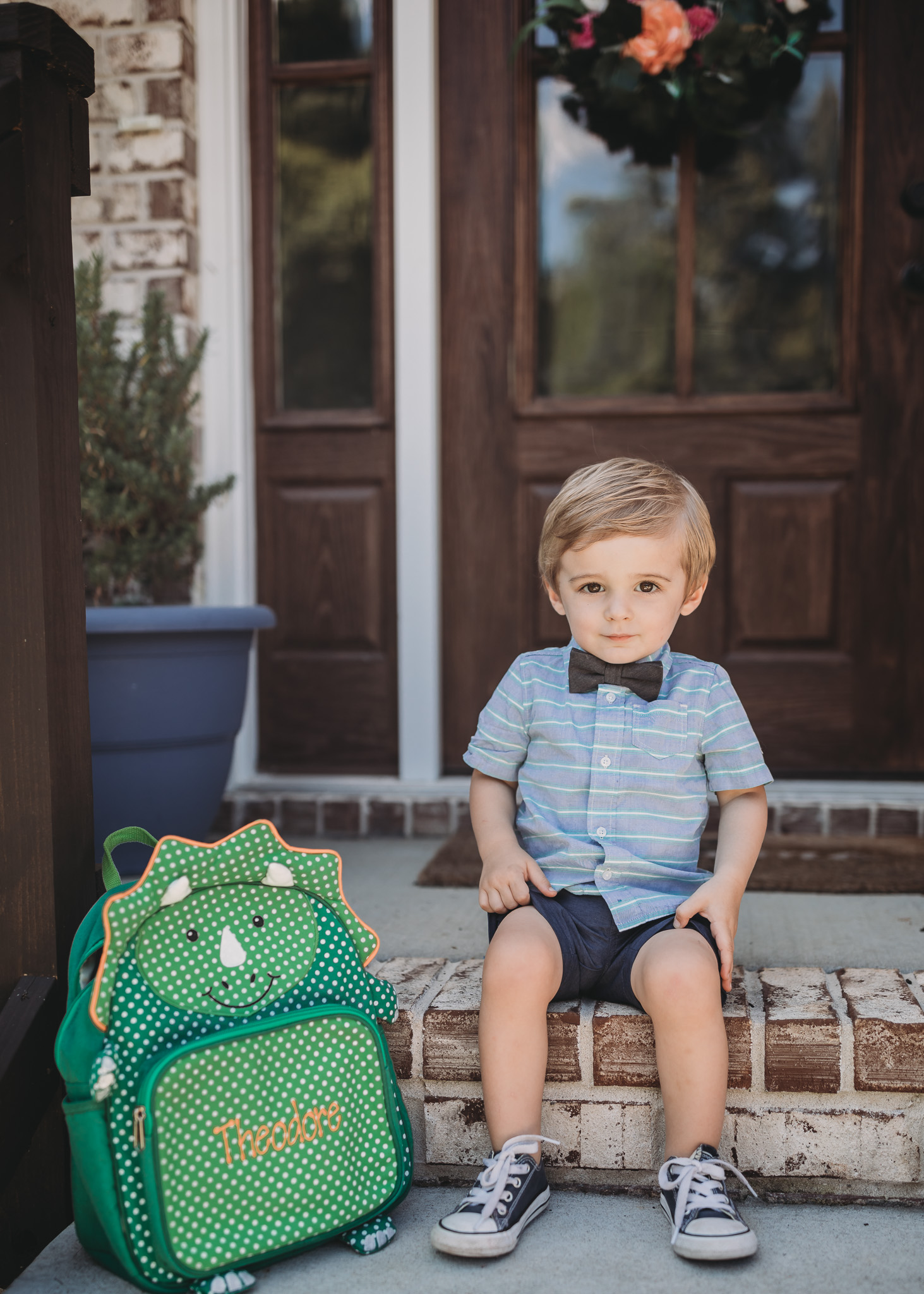 toddler sitting going back to school