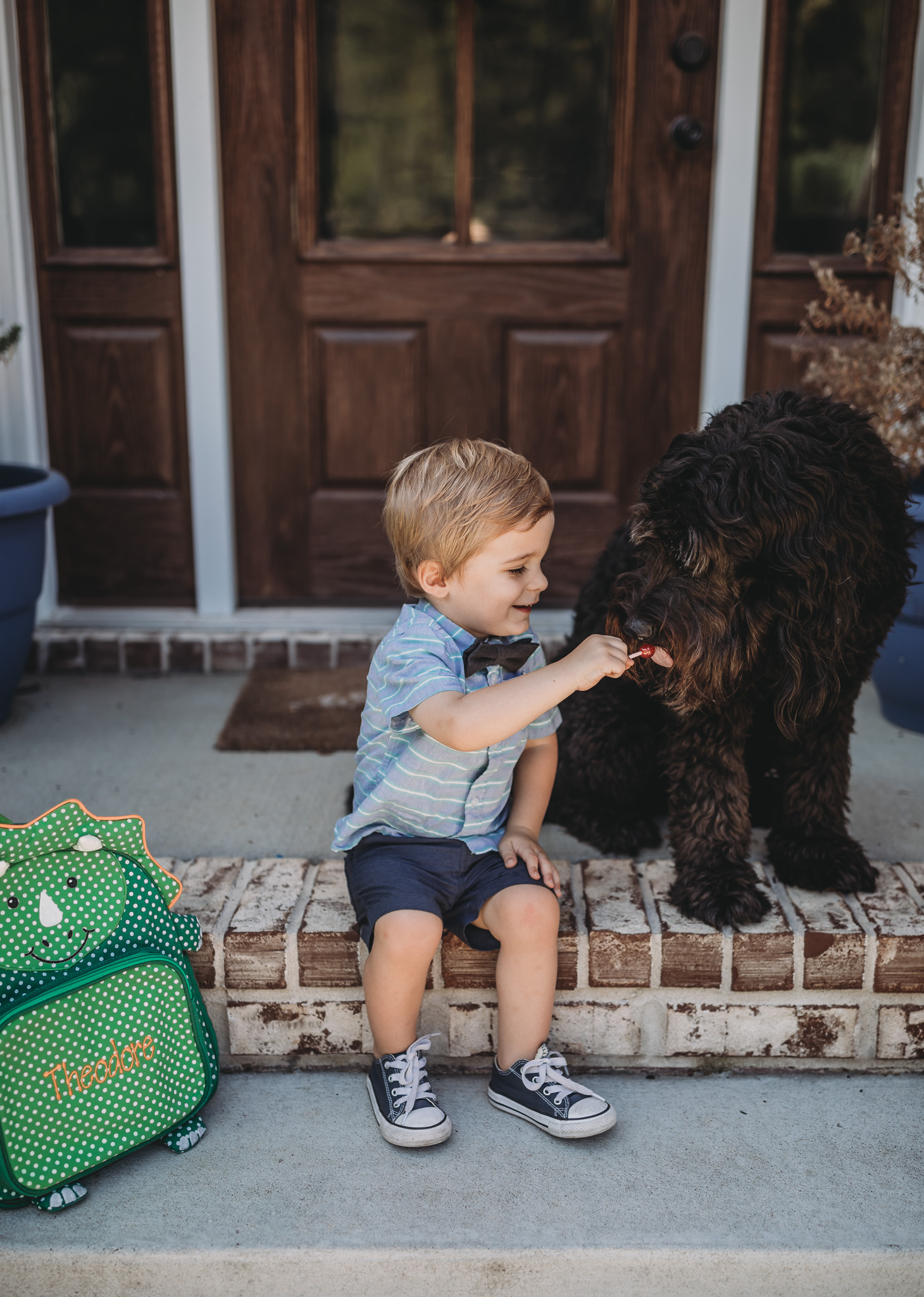 two best friends of boy and dog