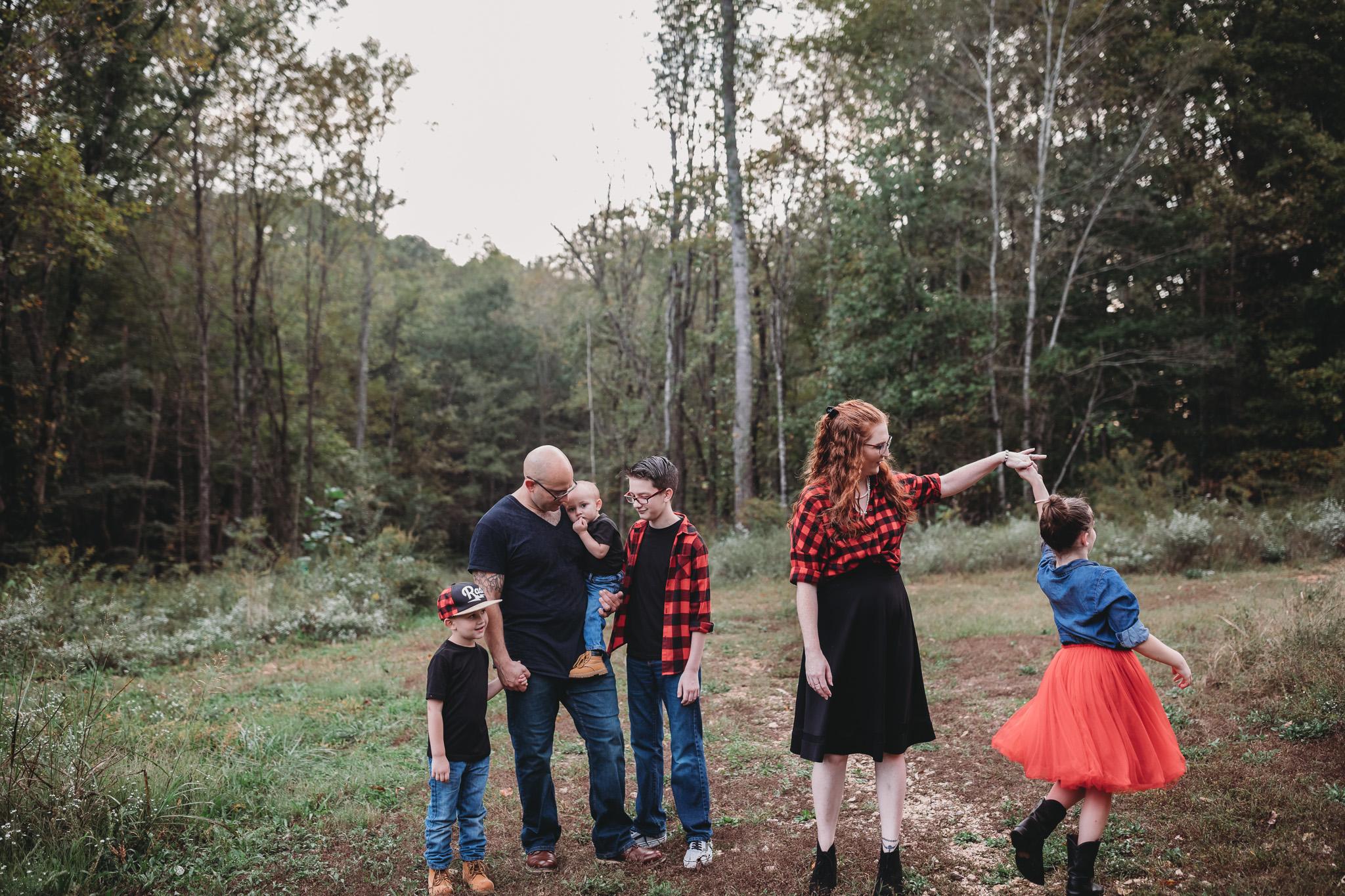 family of six photo idea