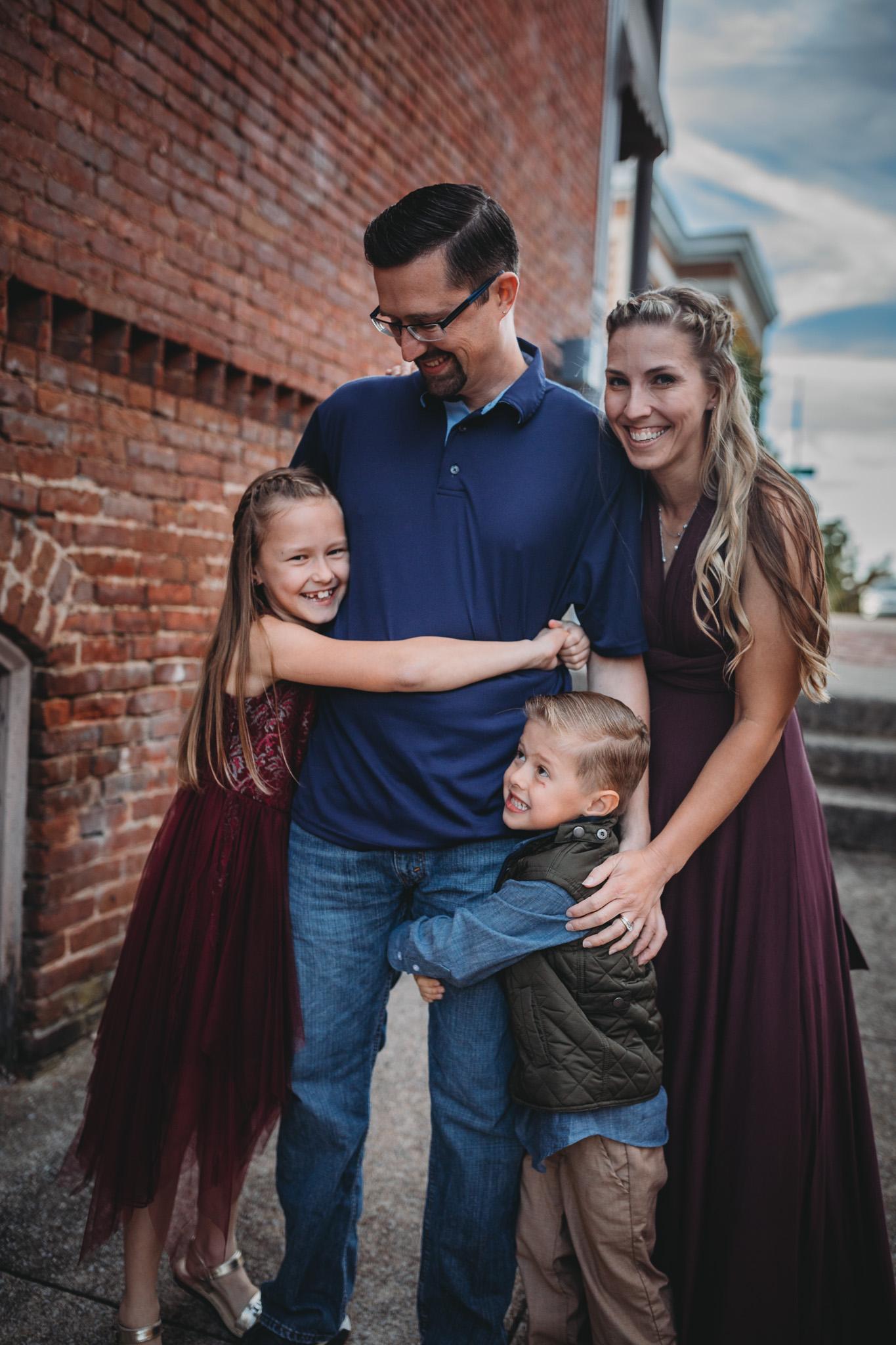 family posing idea