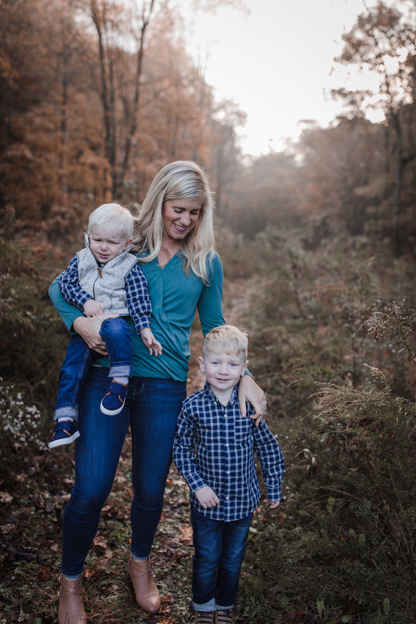 mom with toddler sons