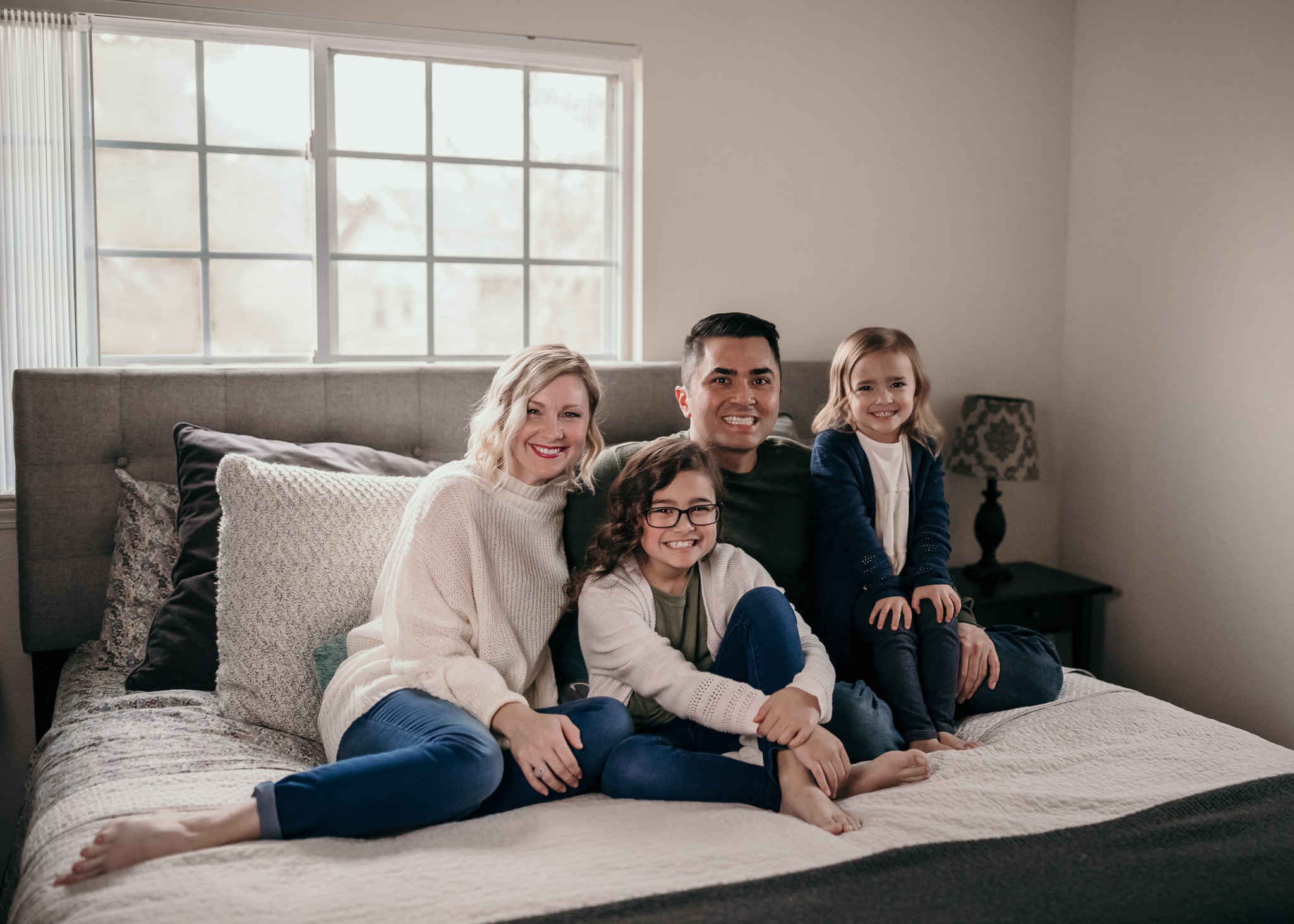 indoor family photo session