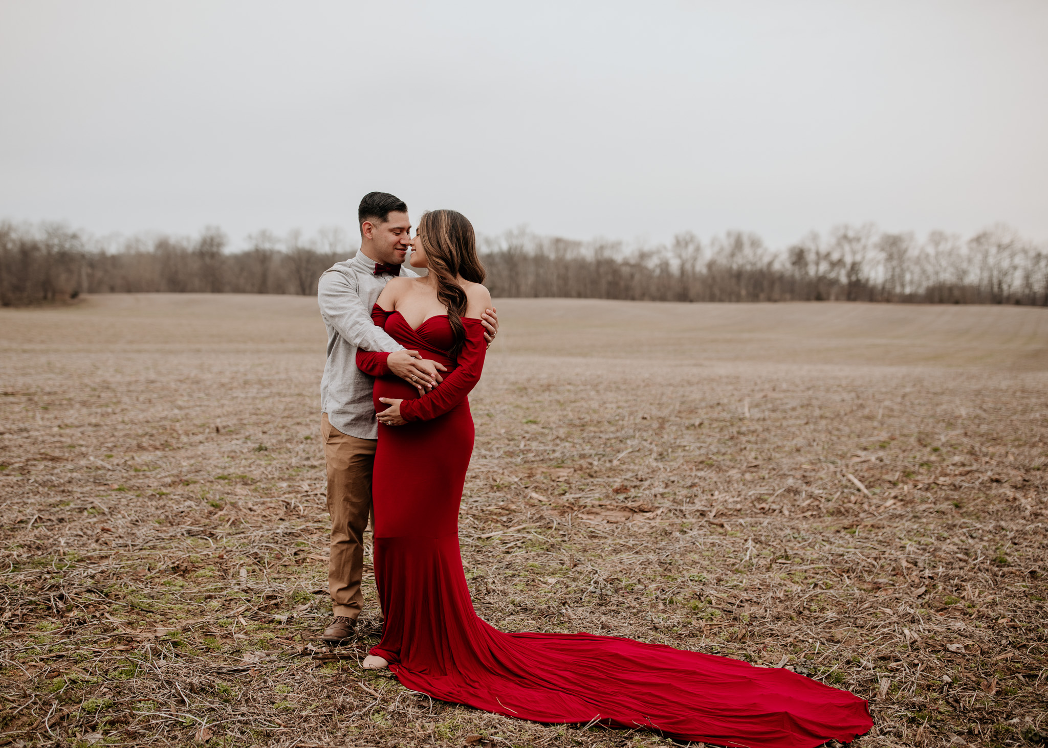 maternity photos in winter
