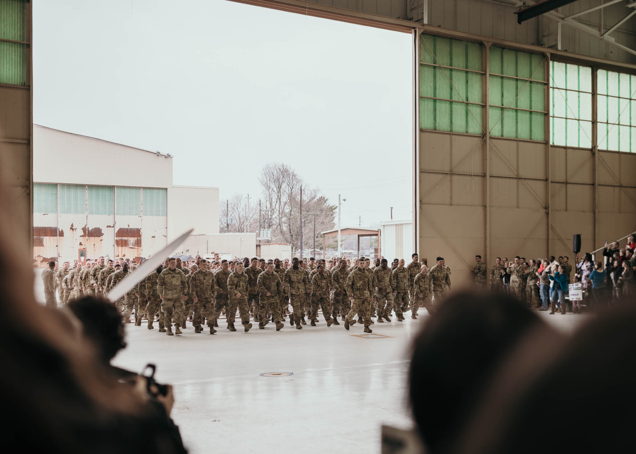 Soldiers During Homecoming Ceremony
