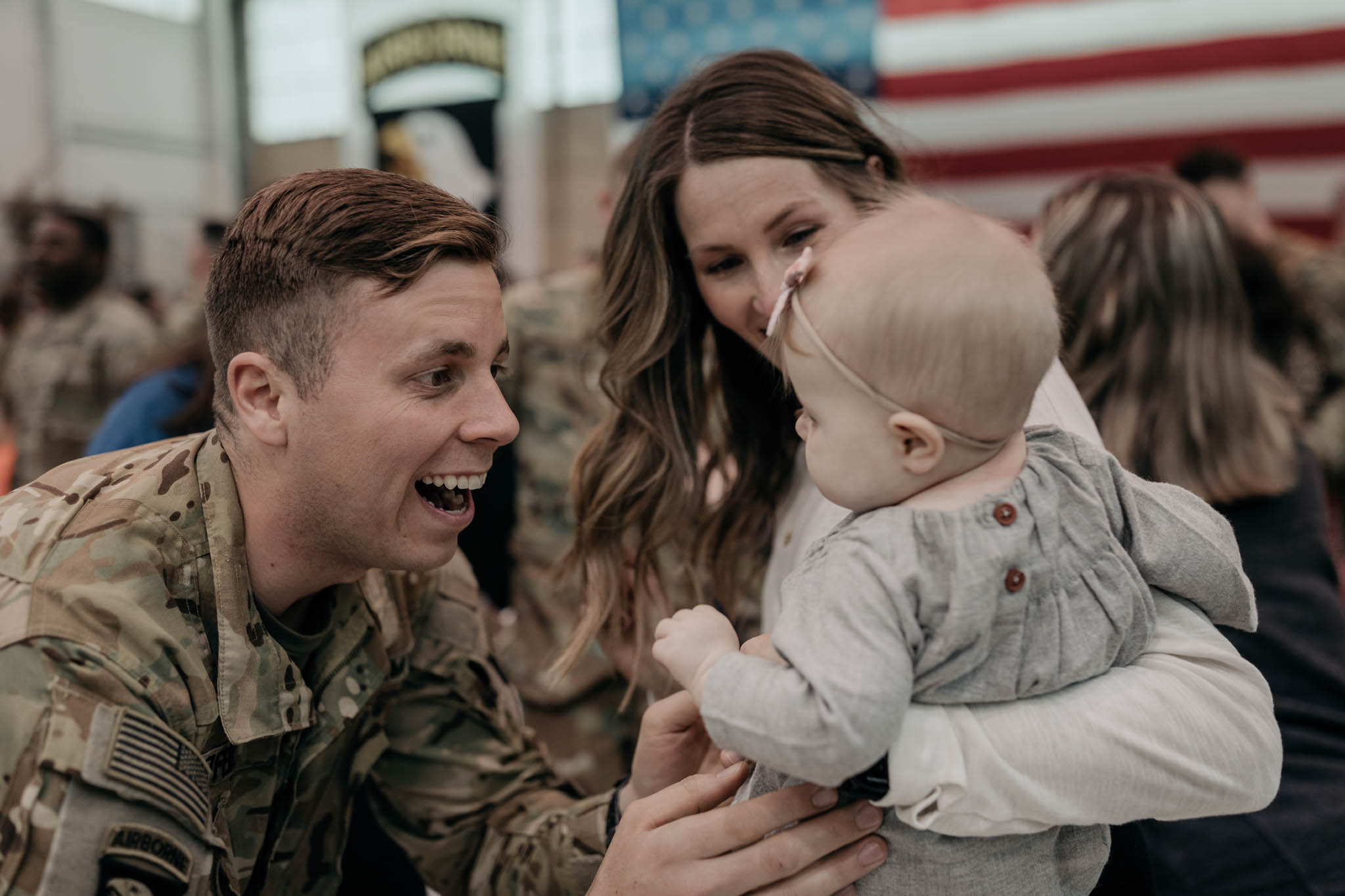 Soldier and Wife with Daughter
