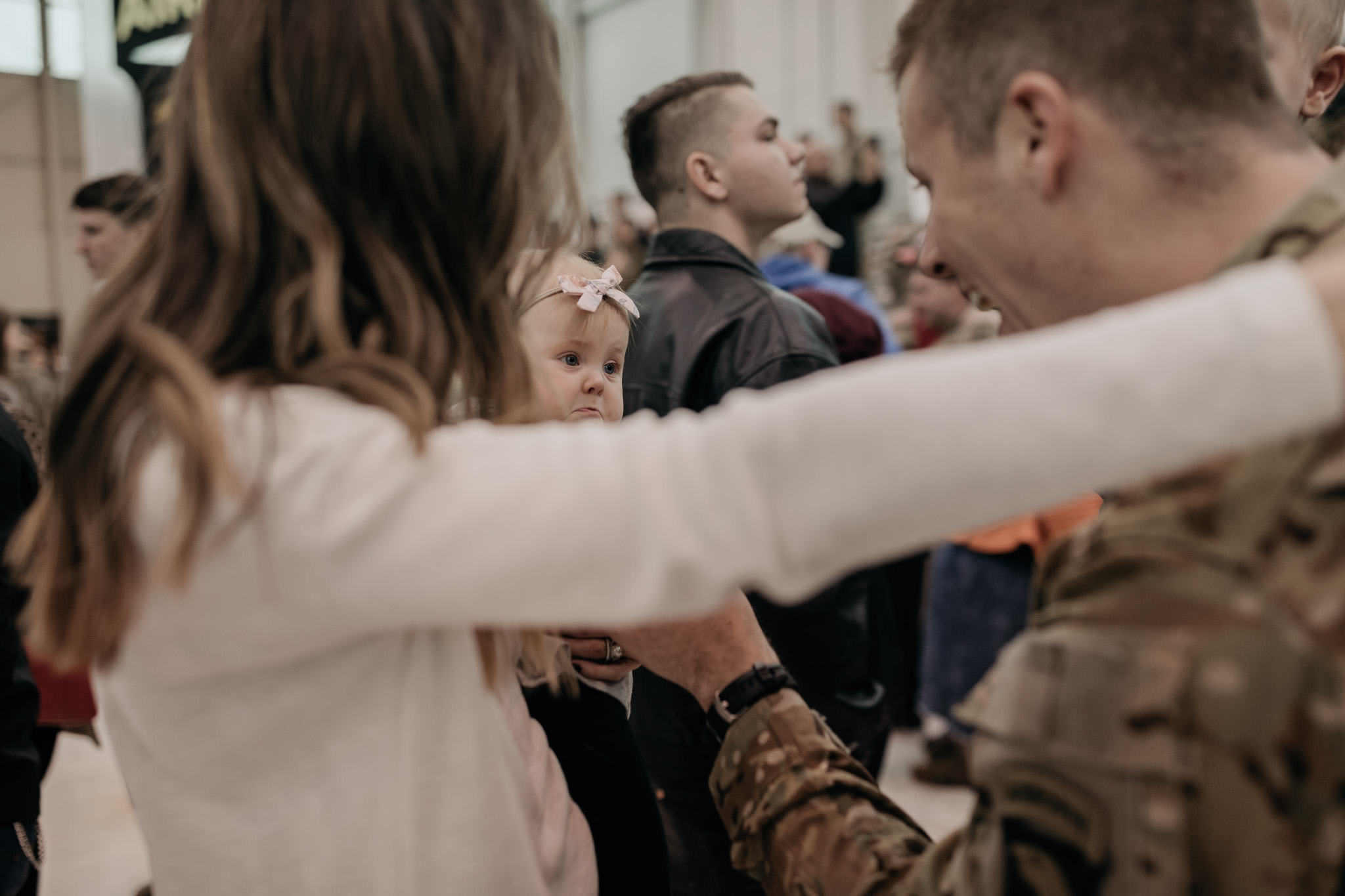 Military Family Embrace