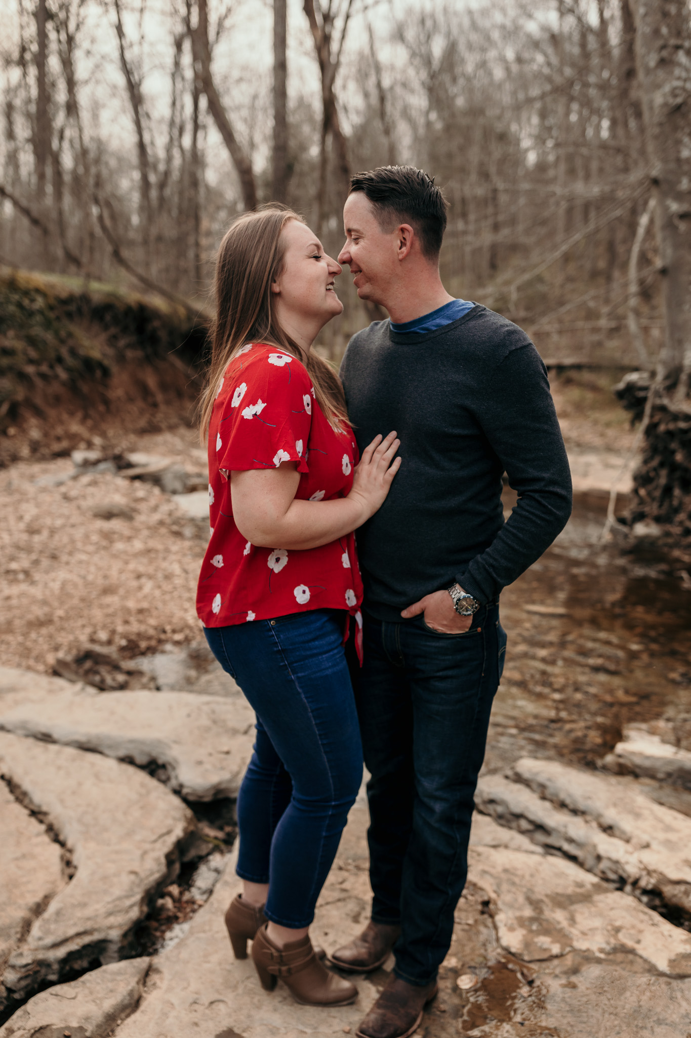 Military Couple Sharing Special Moment