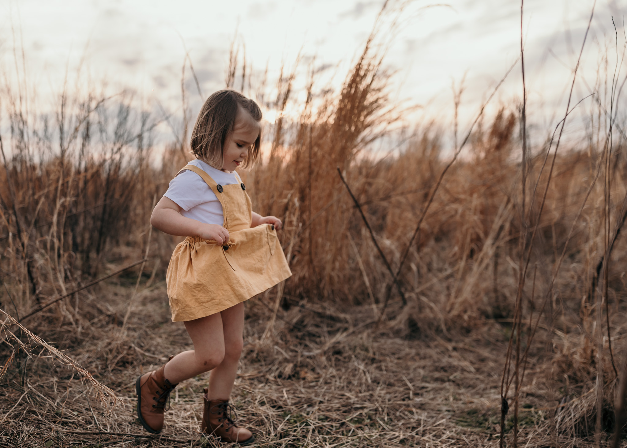 Young Girl in Yellow Dress