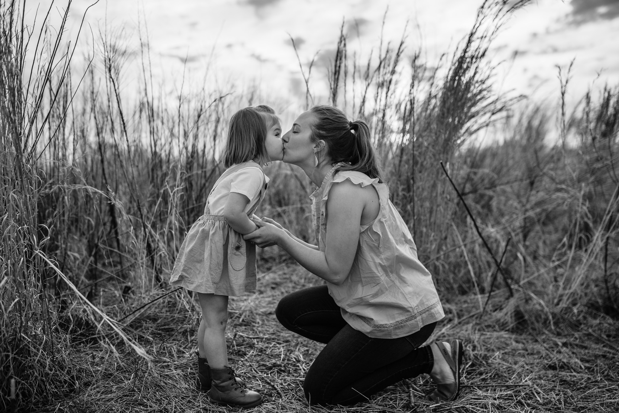 Black and White Mother and Daughter