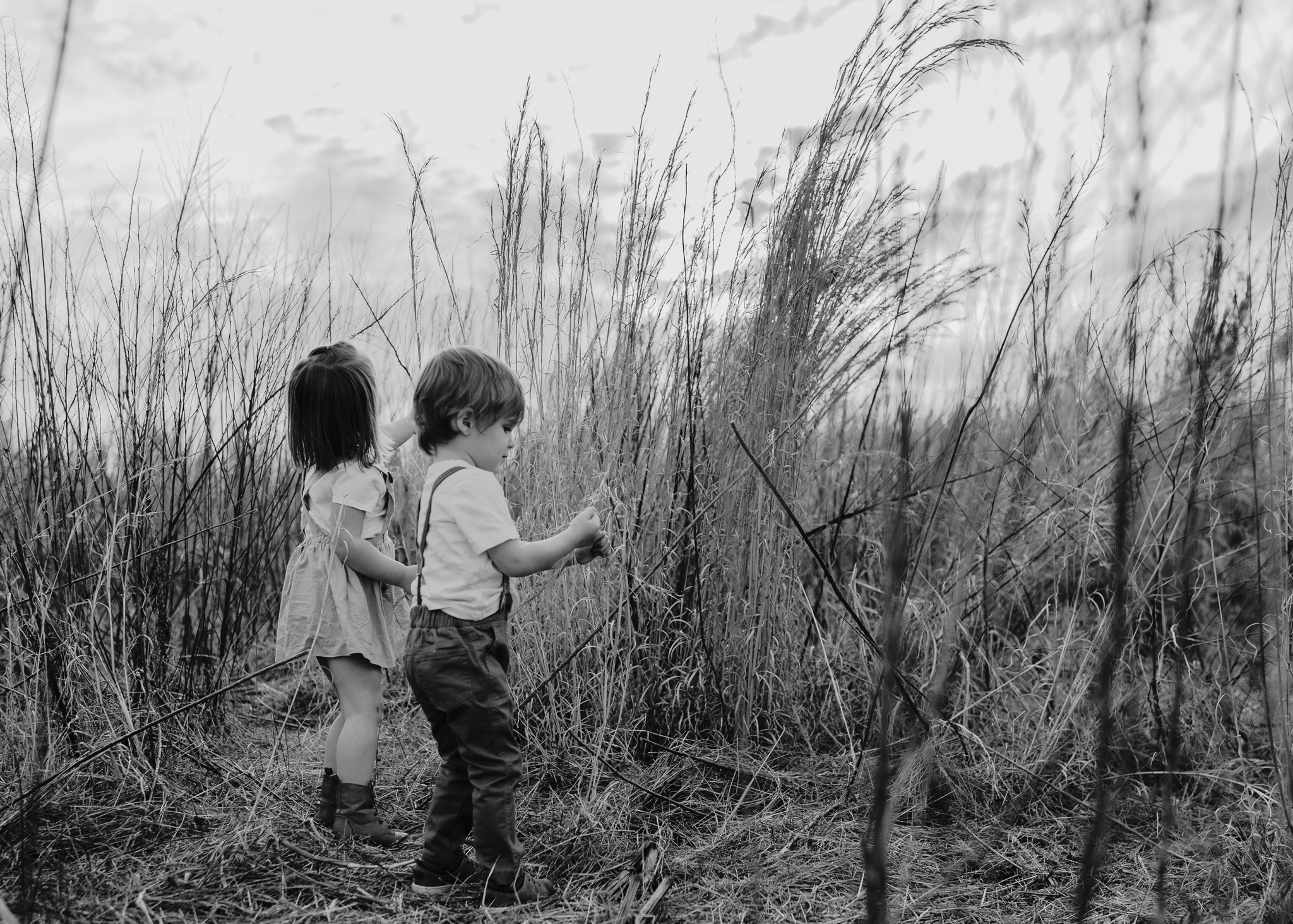 Black and White Children Playing